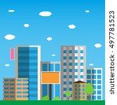 city  icon. vector illustration | Shutterstock .eps vector #497781523