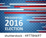 usa presidential election 2016... | Shutterstock .eps vector #497784697