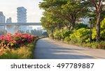 sunny marina bay east park at... | Shutterstock . vector #497789887