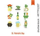 saint patricks day isolated... | Shutterstock .eps vector #497791207