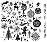 christmas icons  signs  symbols.... | Shutterstock .eps vector #497793883