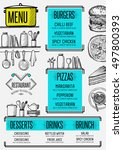 restaurant menu placemat food... | Shutterstock .eps vector #497800393