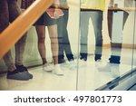 fashion lifestyle friend trendy ... | Shutterstock . vector #497801773