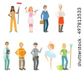 people with different... | Shutterstock .eps vector #497813533