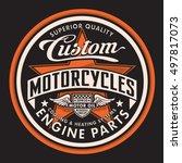 motorcycle typography  t shirt... | Shutterstock .eps vector #497817073