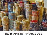 rolls of persian carpets in iran | Shutterstock . vector #497818033