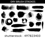 dry brush hand drawn strokes... | Shutterstock .eps vector #497823403