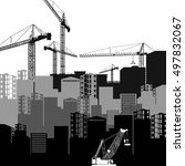 vector construction crane... | Shutterstock .eps vector #497832067