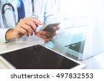 medical technology concept.... | Shutterstock . vector #497832553