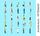 isometric people collection.... | Shutterstock .eps vector #497836633