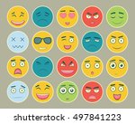 emoticons flat design set.... | Shutterstock .eps vector #497841223