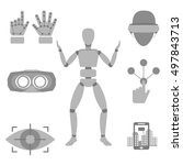 set of vector icons of devices...