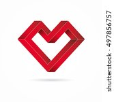 heart abstract impossible...   Shutterstock .eps vector #497856757