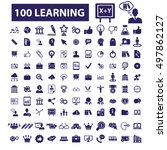 learning icons   Shutterstock .eps vector #497862127