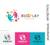 kids play logo | Shutterstock .eps vector #497877973