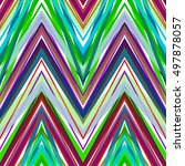 geometric pattern colorful... | Shutterstock .eps vector #497878057