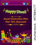 light festival of india happy... | Shutterstock .eps vector #497884177