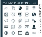 set of 25 universal icons on... | Shutterstock .eps vector #497885323