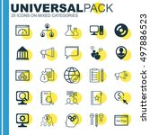 set of 25 universal icons on... | Shutterstock .eps vector #497886523