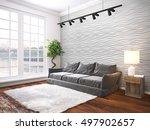 modern bright interior . 3d...   Shutterstock . vector #497902657