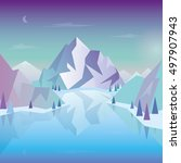mountain landscape. vector... | Shutterstock .eps vector #497907943