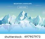 mountain landscape. vector... | Shutterstock .eps vector #497907973