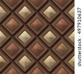 3d  Pattern Of Wooden Squares ...