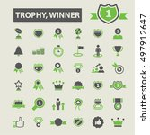 trophy winner icons  | Shutterstock .eps vector #497912647