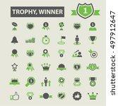trophy winner icons  | Shutterstock .eps vector #497912647