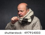 elderly man is ill from colds... | Shutterstock . vector #497914003