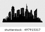 city skyline in grey colors.... | Shutterstock .eps vector #497915317