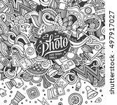 cartoon cute doodles hand drawn ... | Shutterstock .eps vector #497917027