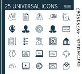 set of 25 universal icons on... | Shutterstock .eps vector #497919067