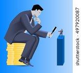 corporate vs small business...   Shutterstock .eps vector #497920087