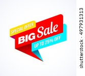 big sale  special offer banner. ... | Shutterstock .eps vector #497931313
