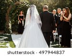 look from behind at father... | Shutterstock . vector #497944837