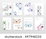 geometric background template... | Shutterstock .eps vector #497948233