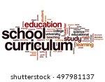 school curriculum word cloud...   Shutterstock . vector #497981137