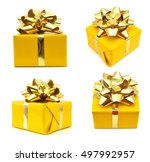 gift box isolated on white...