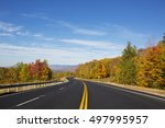 Autumn Freeway In The Mountai...