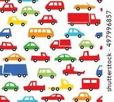 car collection seamless patten  ... | Shutterstock .eps vector #497996857