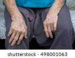 asian senior woman's hand. | Shutterstock . vector #498001063