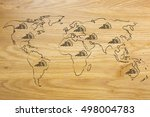 concept of global finance and... | Shutterstock . vector #498004783
