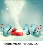 happy new year 2017  new year... | Shutterstock .eps vector #498007327