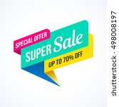 super sale  special offer... | Shutterstock .eps vector #498008197