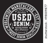 denim vintage typography  t...   Shutterstock .eps vector #498009877
