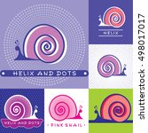 snail and sink. vector icons... | Shutterstock .eps vector #498017017