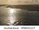 Sun Rays On The North Sea Beac...