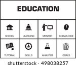 education. chart with keywords... | Shutterstock .eps vector #498038257