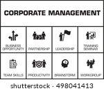 corporate management chart with ... | Shutterstock .eps vector #498041413